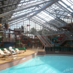 OpenAire's retractable roof over the waterpark at Silverleaf Resorts in Flint, Texas.