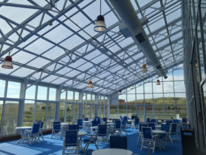 OpenAire's retractable roof over Watiki Indoor Waterpark in Rapid City, South Dakota.