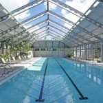 OpenAire's retractable roof at Rosemary Beach Club Retirement Center in Panama City Beach, Florida.