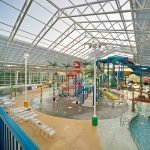 OpenAire's retractable roof over Big Splash Waterpark in French Lick, Indiana.
