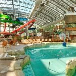 OpenAire's retractable roof over The Pump House Waterpark at Jay Peak Resorts in Jay Peak, Vermont.