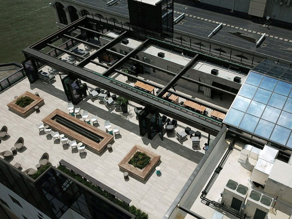 Hyatt House commercial retractable roof