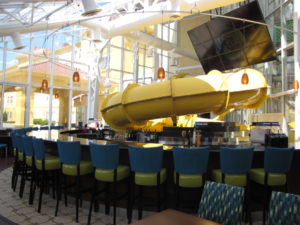 OpenAire added a Slider's Bar and Grill as a restaurant addition to Watiki Indoor Waterpark with retractable roof in Rapid City, South Dakota.
