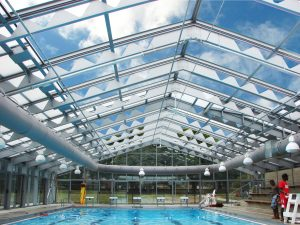 Retractable Roof over Boys And Girls Club in Boston MA
