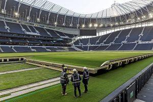 Tottenham Hotspur Dividing Retractable Pitch
